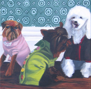 Fall Sweaters Oil Painting by Austin Artist Amy Hillenbrand