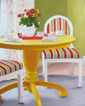 Tea Anyone - Oil Painting by Austin Artist Amy Hillenbrand