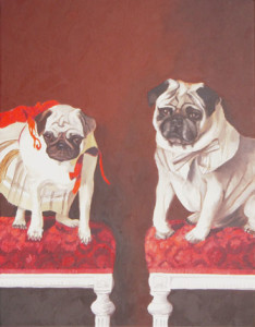Holiday Attire Oil Painting by Austin Artist Amy Hllenbrand