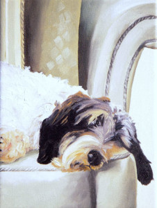 Ralph Oil Painting by Austin Artist Amy Hillenbrand