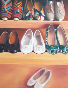 Happy Feet Oil Painting by Austin Artist Amy Hillenbrand