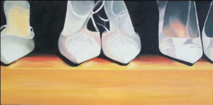 Big Girl Shoes Oil Painting by Austin Artist Amy Hillenbrand