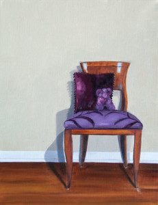 Sitting Pretty, 18 x 14, oil on canvas, Amy Hillenbrand