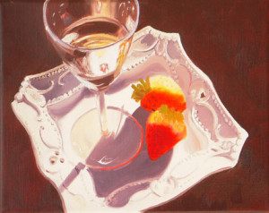 WineTime Oil Painting Austin Artist Amy Hillenbrand