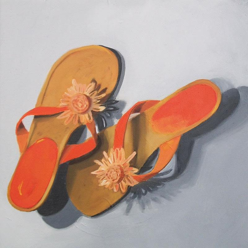 canvas shoes painting. Orange A#39;peel – Oil On Canvas