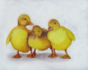 My Ducks in a Row Oil Painting by Austin Artist Amy Hillenbrand (2)