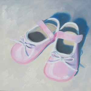 Pink Innocence Oil Paintings by Austin Artist Amy Hillenbrand