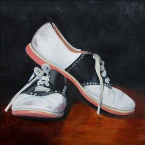 High School Treasures Oil Painting by Austin Artist Amy Hillenbrand