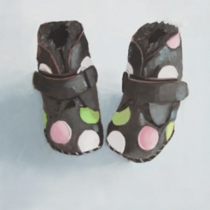Boot Cute Booties Oil Painting by Austin Artist Amy Hillenbrand