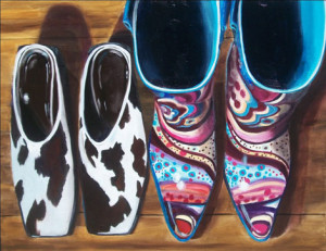 Cowboy Chic Oil Painting by Austin Artist Amy Hillenbrand