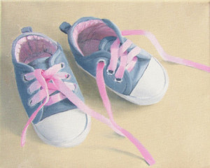 Little Sneaks Oil Painting by Austin Artist Amy Hillenbrand