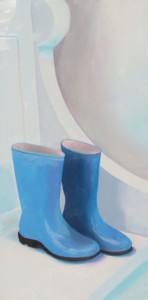 Monet's Blues Oil Painting by Austin Artist Amy HIllenbrand