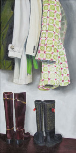 Outer Wear Oil Painting by Austin Artist Amy Hillenbrand