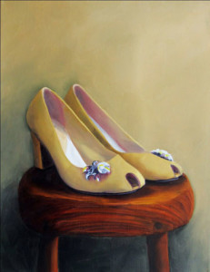 Pretty PeepHole Pumps by Austin Artist Amy Hillenbrand