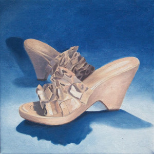 Wedges with an Edge Oil Painting by Austin Artist Amy Hillenbrand