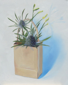 A Little THIStle and That Oil Painitng by Austin Artist Amy Hillenbrand