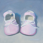 Baby-Pink-Patents-Oil-Painting-by-Austin-Aritst-Amy-Hillenbrand-8-x-8