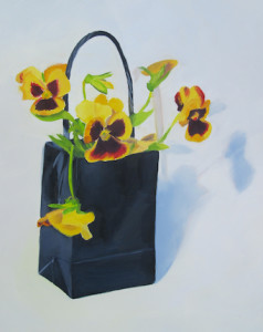 Bag Ladies Oil Painting by Austin Artist Amy Hillenbrand