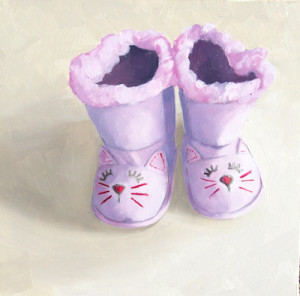 Boop Boop e Boot Oil Painting by Artist Amy Hillenbrand