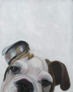 Charlie the Boxer Oil Painting by Artist Amy Hillenbrand