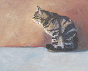 Florence Feline Oil Painting by Artist Amy Hillenbrand