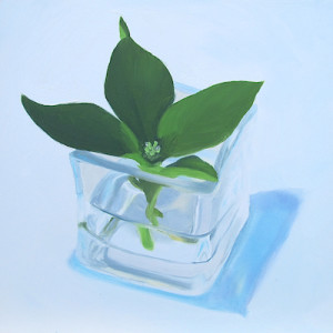 Just Buds Oil Painting by Artist Amy Hillenbrand