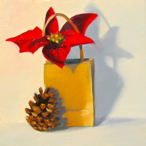 Peppy Poinsettia and the Pine Cone by Artist Amy Hillenbrand