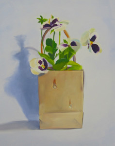 Pocket Pansy Oil Paintng by Austin Artist Amy Hillenbrand