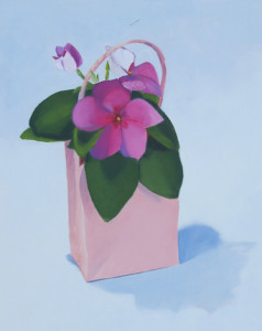 Vinca Takeout Oil Painting Amy Hillenbrand