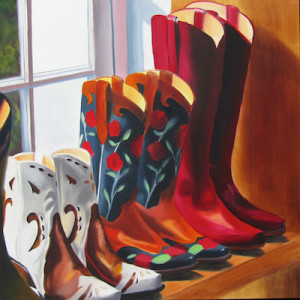 Santa Fe Style Stompers Oil Painting by Amy Hillenbrand