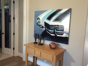Painting of 1973 Chevy Camero by Amy Hillenbrand